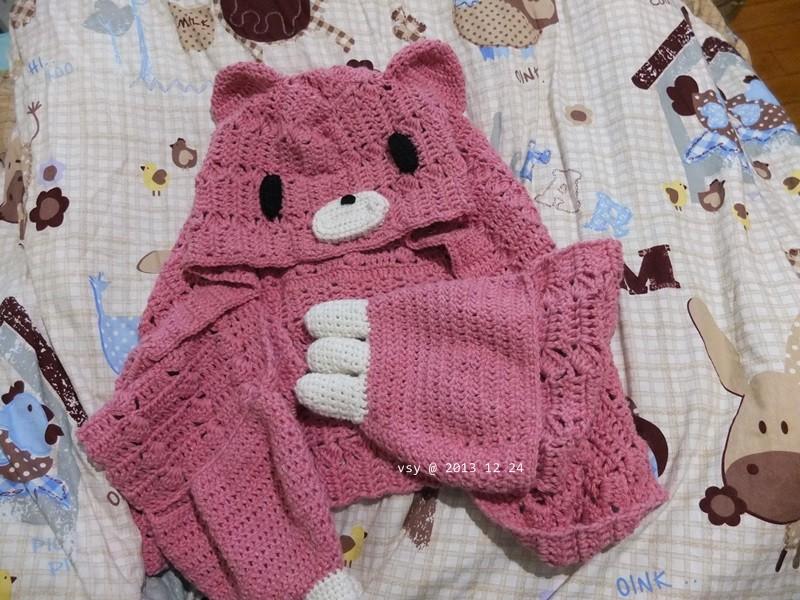鉤針 | 暴力熊圍巾 (客訂) – 微曦