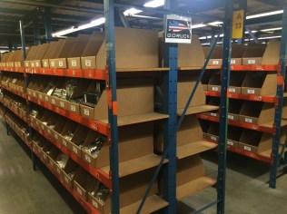 Newgistics GORUCK shelves