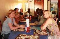 Middag i Kisumu sammen med teamet fra Tumaini