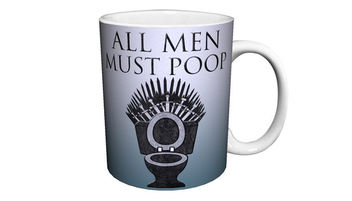 game of thrones gifts for him all men must poop mug