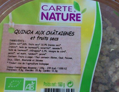 Critique salade de quinoa de Carte Nature (1/3)