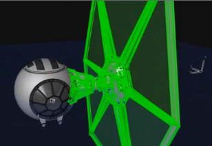 A TIE Fighter, Modeled in ArchiCAD, this is…
