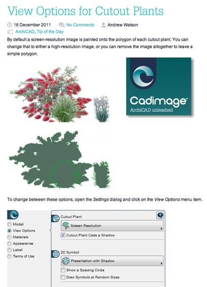 Take a look at Cadimage Blog