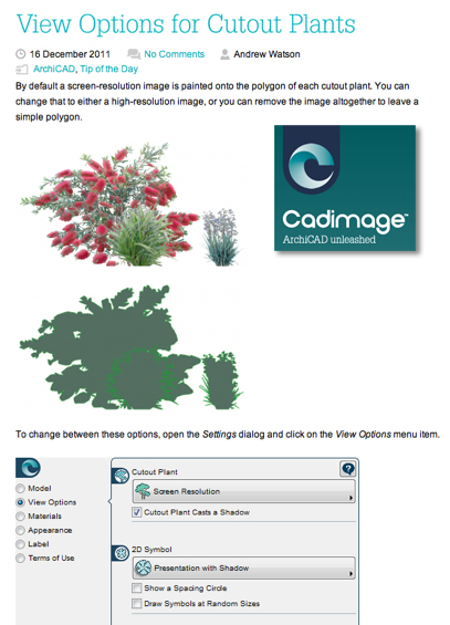Take a look at Cadimage Blog