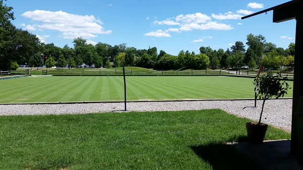 Lawn bowling lawn at Little Miami Golf Center