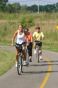 Bikers on Trail