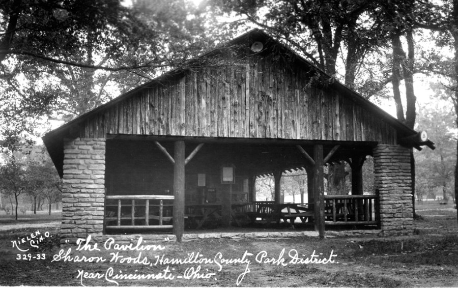 Pavilion Grove Shelter in Sharon Woods circa 1933.