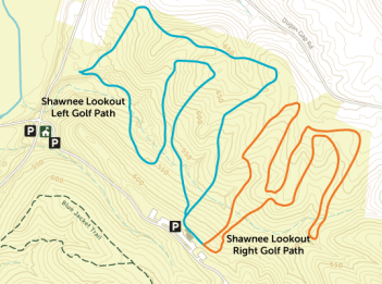 Shawnee Lookout Golf Path Map