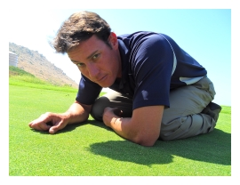 I am Iain Sturge, golf course superintendent