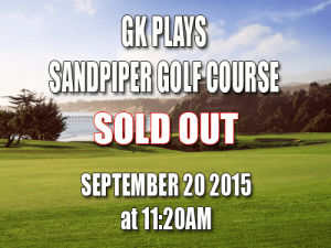 Sandpiper Golf Course Tee Times