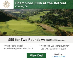 Costco Online Special - Champions Club at the Retreat Golf Tee Times