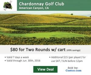Costco Online Special - Chardonnay Golf Club Tee Times