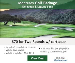 Costco Online Special - Monterey Delavega & Laguna Seca Golf Course Tee Times