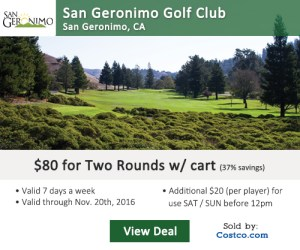 Costco Online Special - San Geronimo Golf Club Tee Times