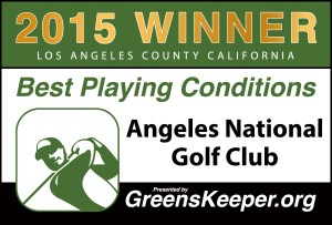 Greenskeeper.Org Best Playing Conditions Award 2015 - Angeles National Golf Club