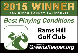 Greenskeeper.Org Best Playing Conditions Award 2015 - Rams Hill Golf Club