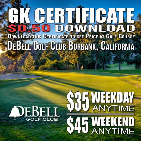 DeBell Golf Club GK Certificate