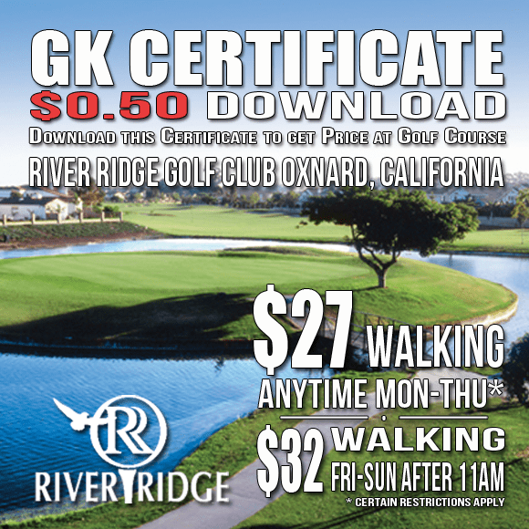 River Ridge Golf Club GK Certificate