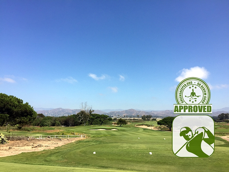 Olivas Links Ventura California Hole 17 approach