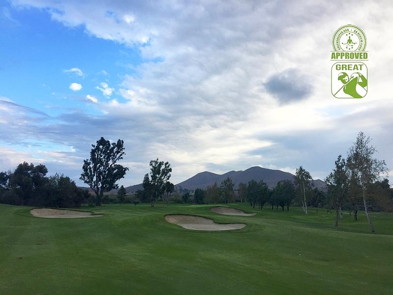Goose Creek Golf Club Mira Loma California. Hole 15 approach