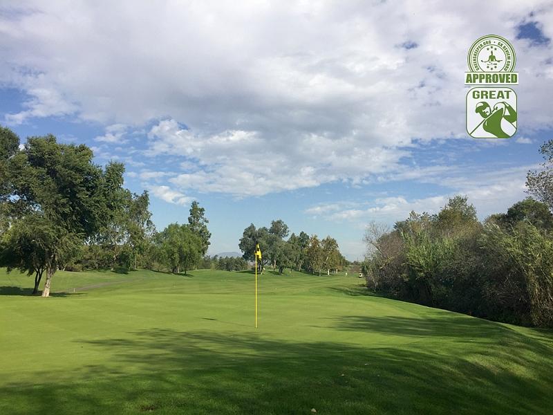 Goose Creek Golf Club Mira Loma California. Hole 4 Green-side