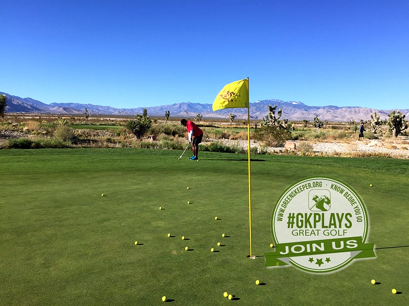 Las Vegas Paiute Golf Resort Las Vegas Nevada. RobStretch Pitching at the practice green. Even the practice area was amazing!