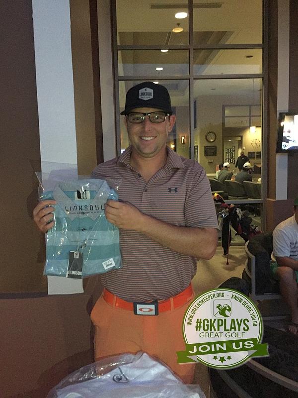 TPC Las Vegas, Las Vegas, Nevada. Apisarski wins a LINKSOUL shirt to match his pants