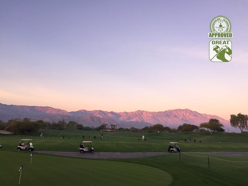 Desert Willow Golf Resort (FIRECLIFF) Palm Desert California. Driving Range at Dawn