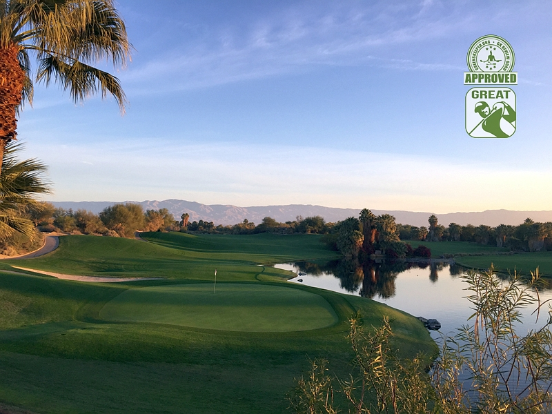 Desert Willow Golf Resort (FIRECLIFF) Palm Desert California. Hole 9