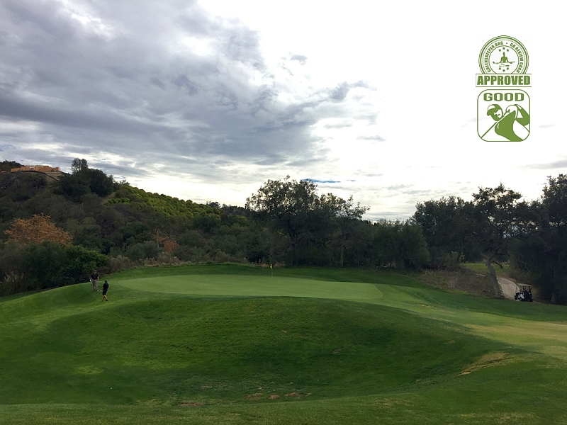 CrossCreek Golf Club Temecula, California. Hole 15 Green-side