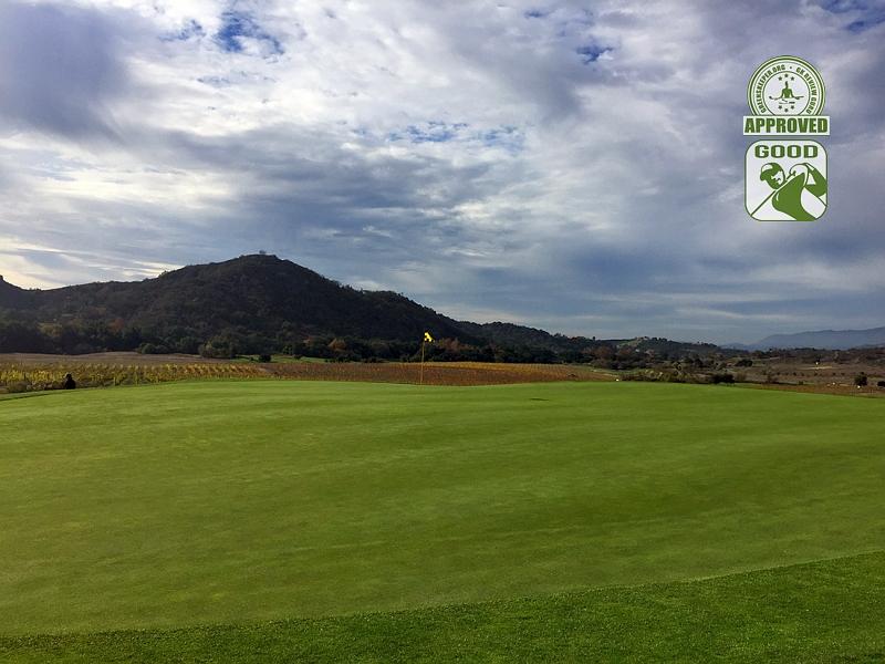 CrossCreek Golf Club Temecula California. Hole 6 Green-side