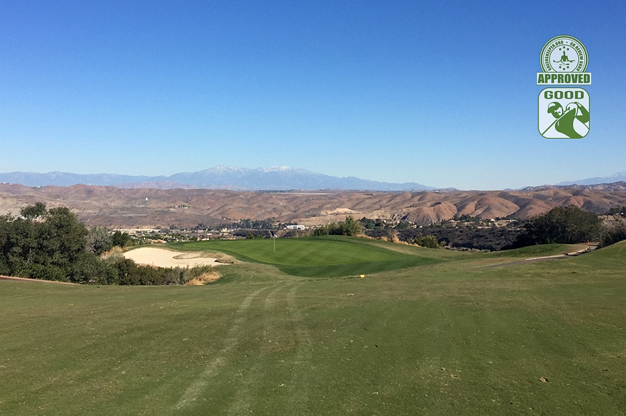Eagle Glen Golf Club Corona California. Hole 9