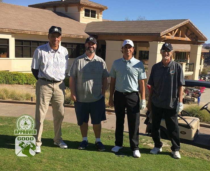Eagle Glen Golf Club Corona California. Our GK Review Gurus (L to R) Larryq2001, Sixpez, JohnnyGK, and SBogey