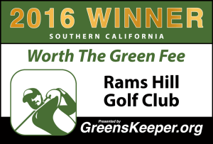 Worth the Green Fee 2016 for Southern California - Rams Hill Golf Club