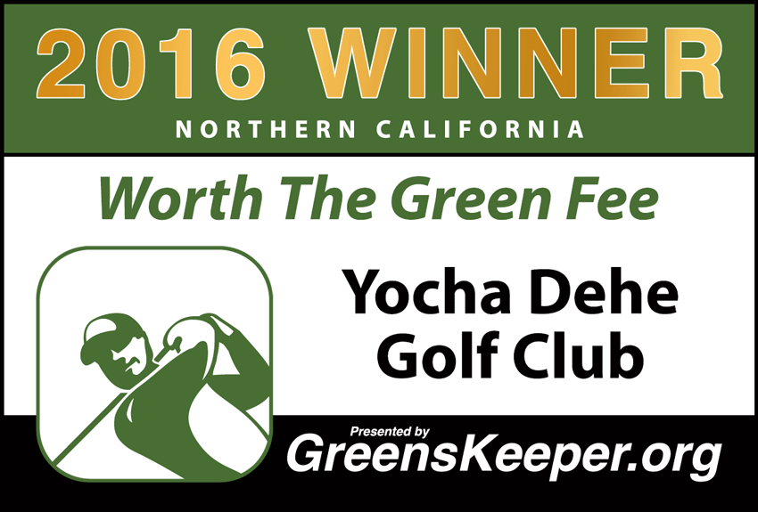 Worth the Green Fee 2016 for Northern California - Yocha Dehe Golf Club