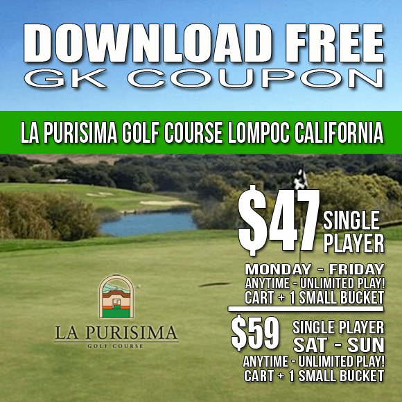 La Purisima Golf Course GK Coupon Tee Time Special