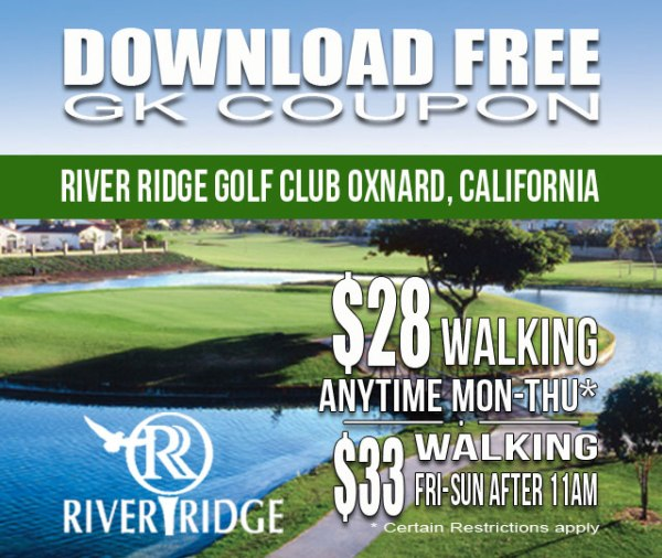 River Ridge Golf Club Oxnard California GK Coupon & Golf Tee Time Special