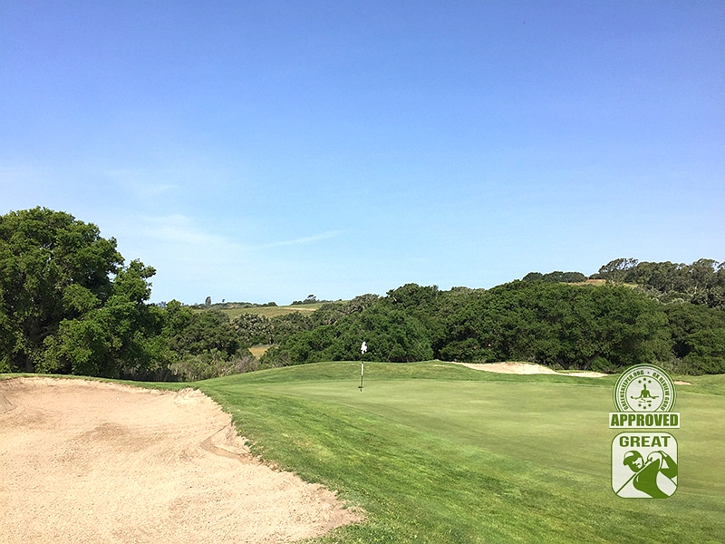 La Purisima Golf Course Lompoc California.   Hole-8 Green-side