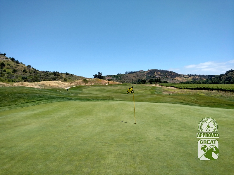 CrossCreek Golf Club Temecula California GK Review Guru Visit - Hole 7 Looking Back