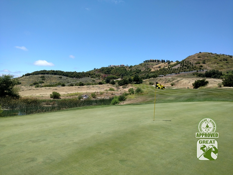 CrossCreek Golf Club Temecula California GK Review Guru Visit - Hole 8 Looking Back