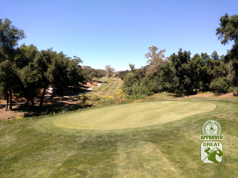 CrossCreek Golf Club Temecula California GK Review Guru Visit - Hole 17 Looking Back