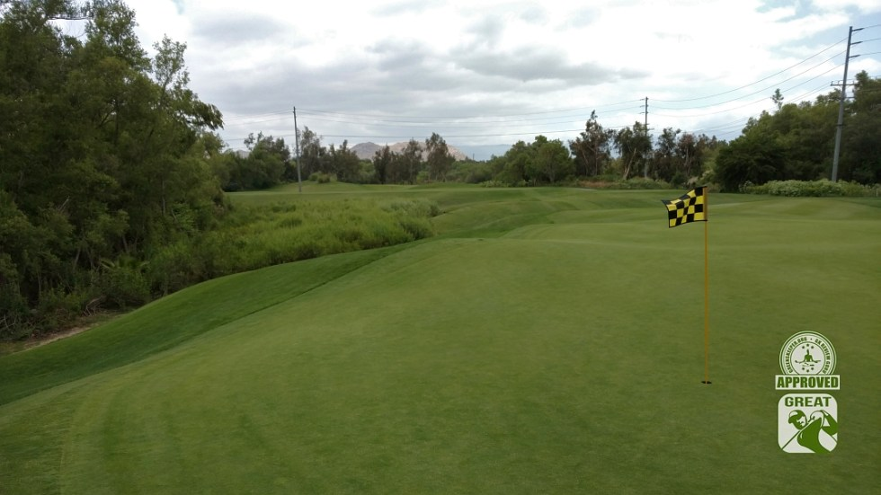 Goose Creek Golf Club Mira Loma California GK Review Guru Visit - Looking back on Hole 9