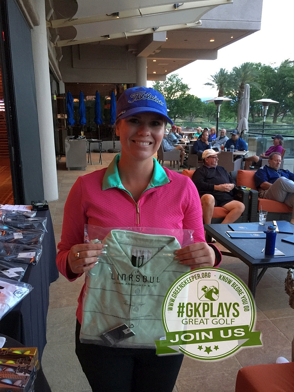 PGA West Nicklaus Tournament La Quinta California Hilary grabs some LINKSOUL swag for her beau