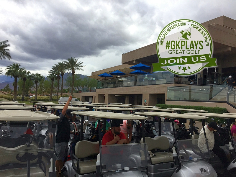 PGA WEST Nicklaus Tournament La Quinta California Staging area before the Shotgun start