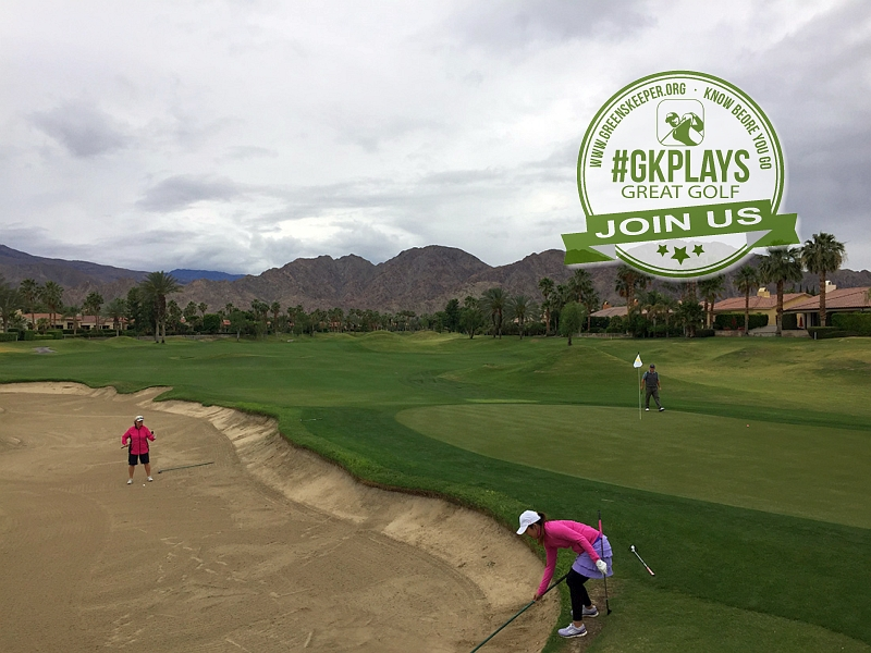 PGA WEST Nicklaus Tournament La Quinta California Wendy & Kristie trying to save par