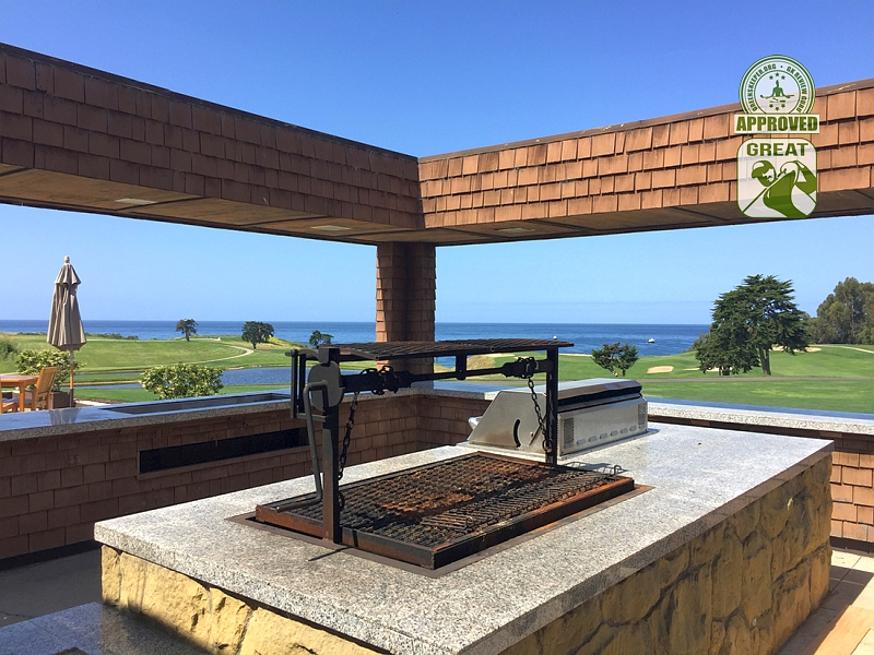 Sandpiper Golf Course Goleta California GK Review Guru Visit - Clubhouse Outdoor accommodations include a BBQ and Grill