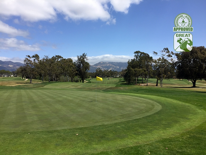 Sandpiper Golf Course Goleta California GK Review Guru Visit - Hole 2 Green-side