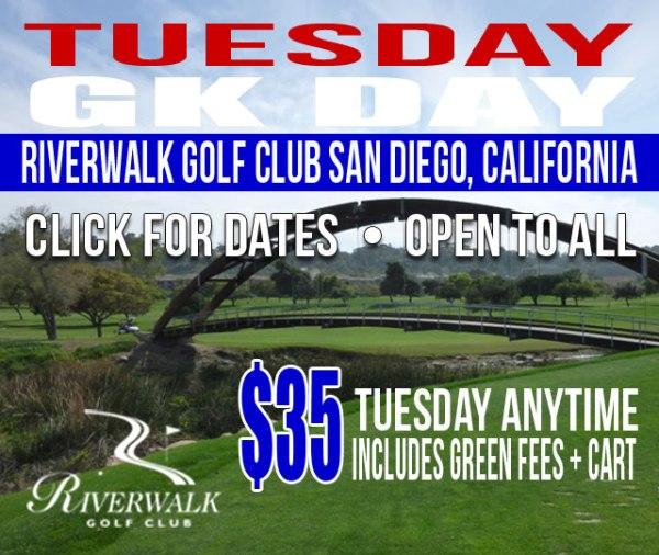 Riverwalk Golf Club San Diego California GK Day Tuesday