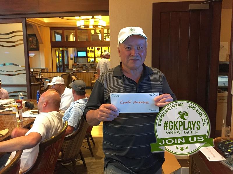 Yocha Dehe Golf Club Brooks CA Jose Quiroz shows off his GOLFMOOSE SWAG
