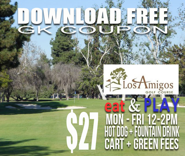 Los Amgios Golf Course Downey California Eat & Play GK Coupon
